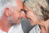 Close-up of a mature couple with head to head — Stock Photo