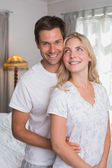 Portrait of a smiling young couple together — Stock Photo