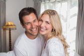 Portrait of a cheerful young couple — Stock Photo
