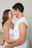 Loving young couple looking at each other — Stock Photo