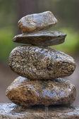 禅宗在森林里的石头 — 图库照片