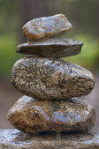 Zen камни в лесу — Стоковое фото