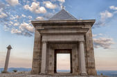 Stone temple at the top of the mountain - Horizontal — Stock Photo