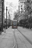 Tram of Seville - Selective color — Stock Photo