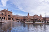 Navigating in the Plaza of Spain in Seville — Stock Photo