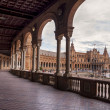 Hall of Columns in the Plaza of Spain in Seville — Stock Photo