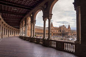 Hall of Columns in the Plaza of Spain in Seville — Photo