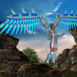 Angel with wings — Stock Photo