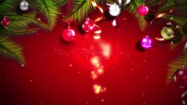 Motion backgrounds high definition - Christmas balls — Stock Video