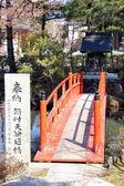 Alte japanische tempelgarten — Stockfoto