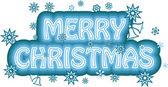Veselé vánoce znamení — Stock vektor
