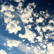 White Clouds on the Blue Sky — Stock Photo