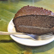 Chocolate cake, Barcelona, Spain — Stockfoto