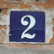 Building Identification Number — Stockfoto