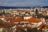 Prague and its red roofs, hidden streets and old houses — Stock Photo