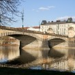 Prague and its old houses, Vltava river and bridges — Stock Photo #44542729