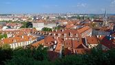 Prague red roofs — Stock Photo