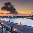 Sunset over the Maldives — Stock Photo #42804177