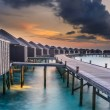 Sunset over the Maldives — Stock Photo #42804377