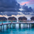 Sunset over the Maldives — Stock Photo