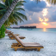 A long day in the sun in the Maldives — Stockfoto