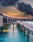 Sunset over the Maldives — Stock Photo