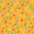 Colorful music notes background illustration — Stock Vector