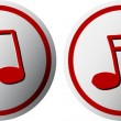 Music buttons — Stock Vector