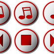 Music buttons — Stock Vector #30960967