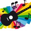 Music and guitar illustration — Stock Vector