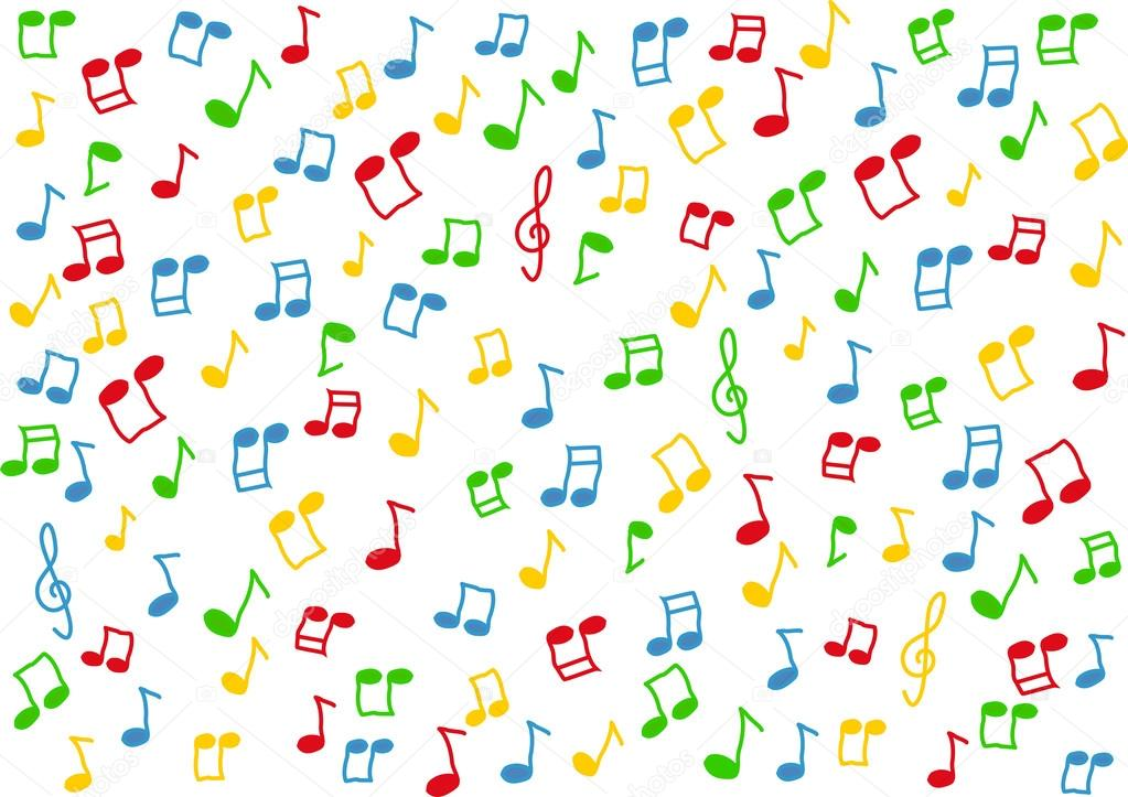 Colorful music notes background illustration stock vector
