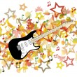 Guitar and Autumn leaves illustration — Stock Vector #31112303