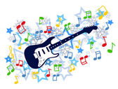 Zima gitara — Wektor stockowy