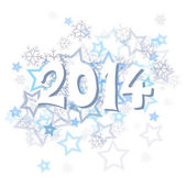 Neujahr 2014 — Stockvektor