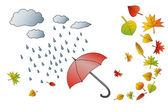 Herbst wetter — Stockvektor