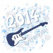 Stock Vector: New year 2014
