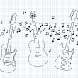 Acoustic, electric and bass guitar — Stock Vector #35170637