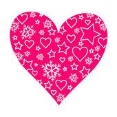 Růžové srdce — Stock vektor