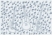 Guitar and notes — Stock Vector