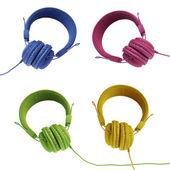 Colorful headphones — Stock Photo