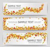 Autumn banners — Stock Vector