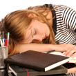 Sleeping student — Stock Photo