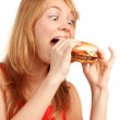 Hungry girl — Stock Photo