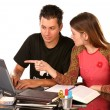 Studying together 2 — Stockfoto