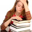 Girl with books 3 — Stock Photo