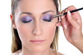 Violet look-step 2 — Stock Photo