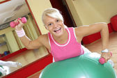 Szczęśliwy fitness — Zdjęcie stockowe