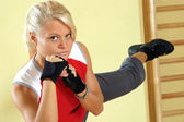 Taebo kick — Stock Photo