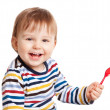 Child with spoon — Stock Photo
