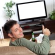 watching tv — Stock Photo
